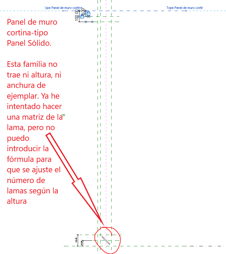 Panel lamas horizontales_Alzado derecha