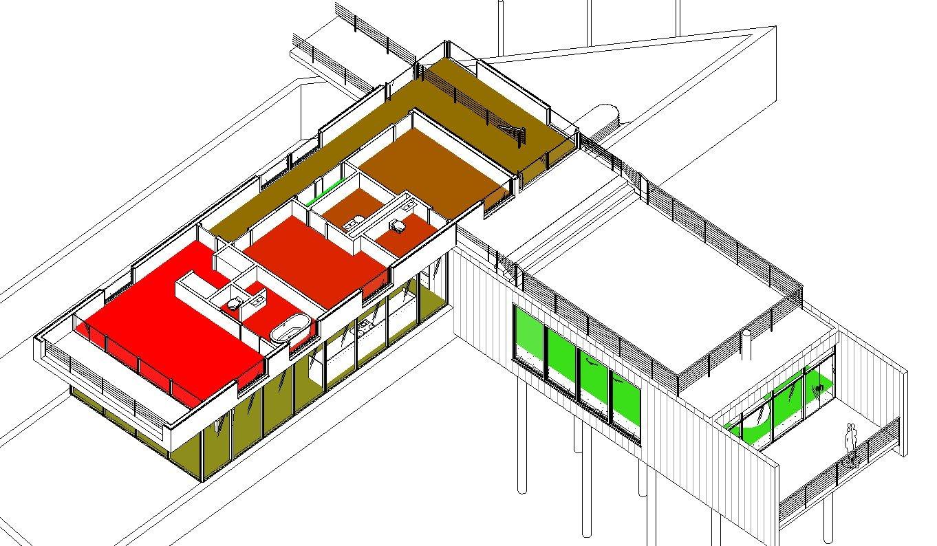 RE: ¿Cómo visualizar en 3D las habitaciones en Revit?