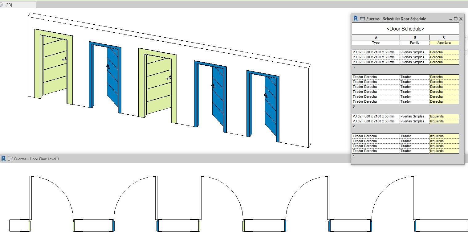 RE: ¿Cómo resuelven la medición de puertas que abren a izquierda o a derecha en Revit?