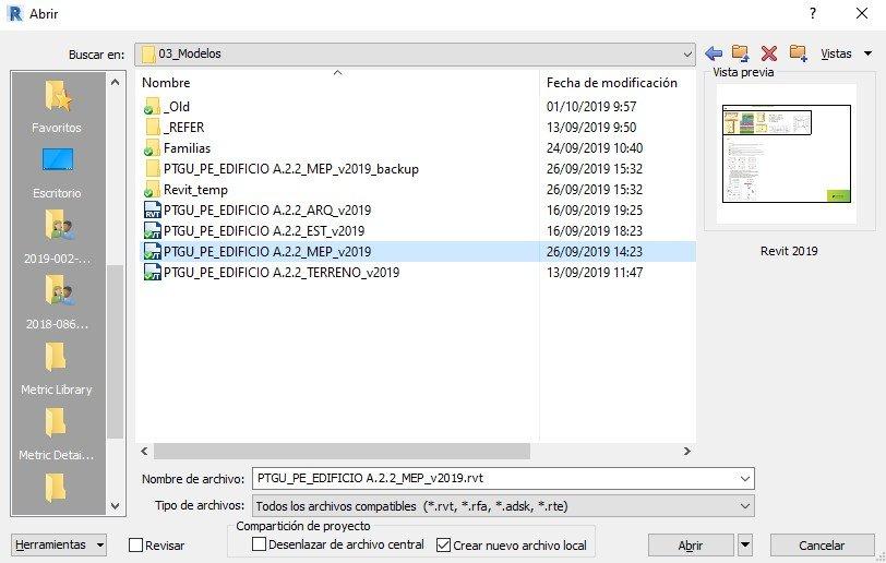RE: ¿Como se hacer para que en la pantalla incial de proyectos recientes de revit te abra la copia local del archivo y no el modelo central?