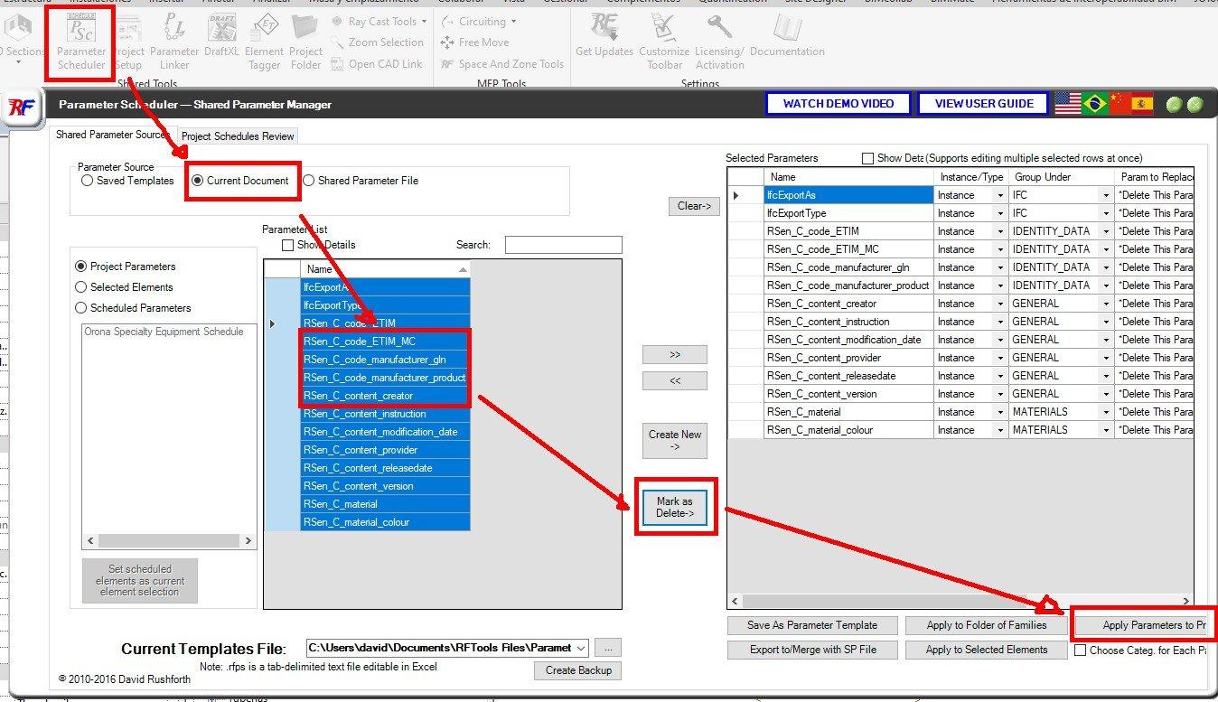 RE: ¿Cómo editar en bloque parámetros de proyecto y de familias sin hacerlo uno a uno en Revit?