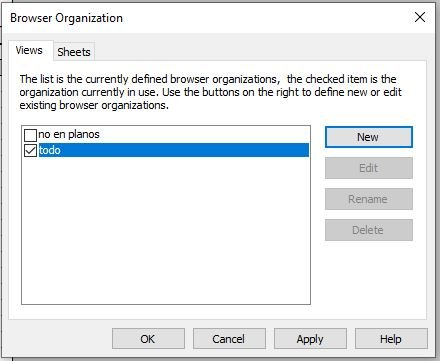 RE: Como se pueden agrupar por nombre en el project browser las tablas de planificación?