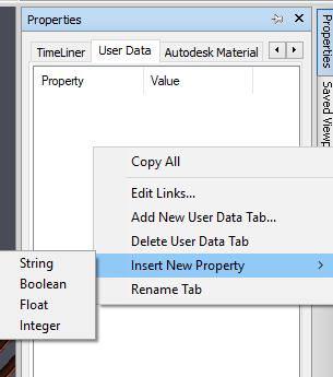 User data Tab