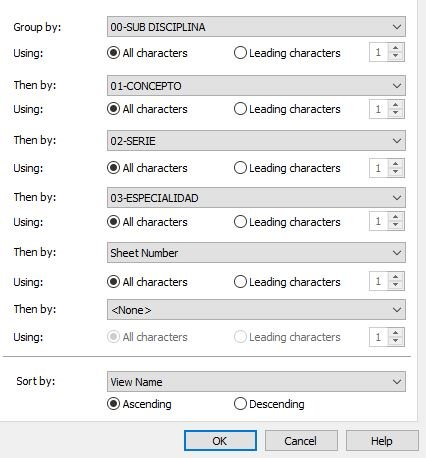 Parametros de Texto para vistas y/o Sheets