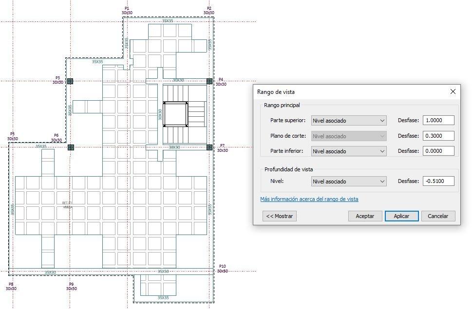 ¿Cómo solucionar la diferente visualizacion de pilares en vínculo y en archivo principal?