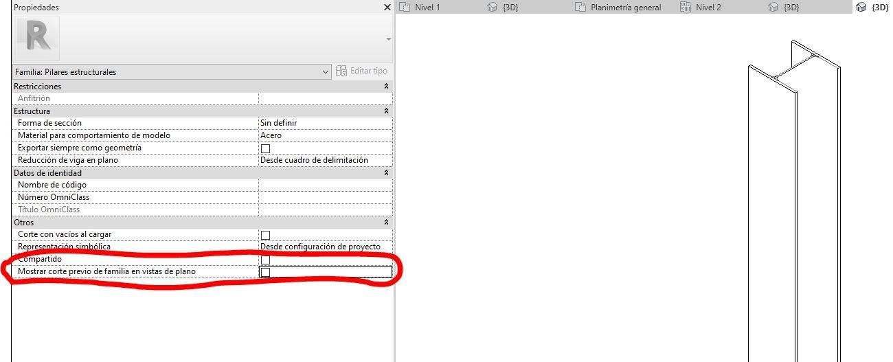 RE: ¿Cómo solucionar la diferente visualizacion de pilares en vínculo y en archivo principal?