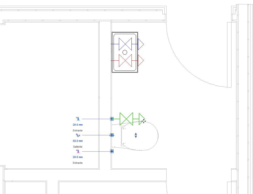 ¿Cómo puedo parametrizar la visibilidad de los conectores que aparecen al seleccionar una familia en Revit?