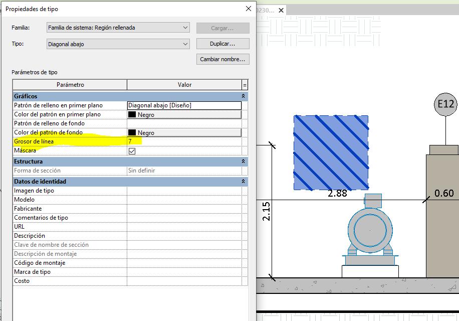 RE: ¿Como se puede modificar el grosor de linea de los patrones de relleno, en REVIT?
