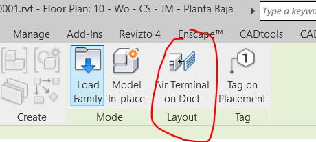 RE: ¿Cómo colocar una rejilla de ventilación directamente en un conducto de piezas de fabricación en Revit MEP?
