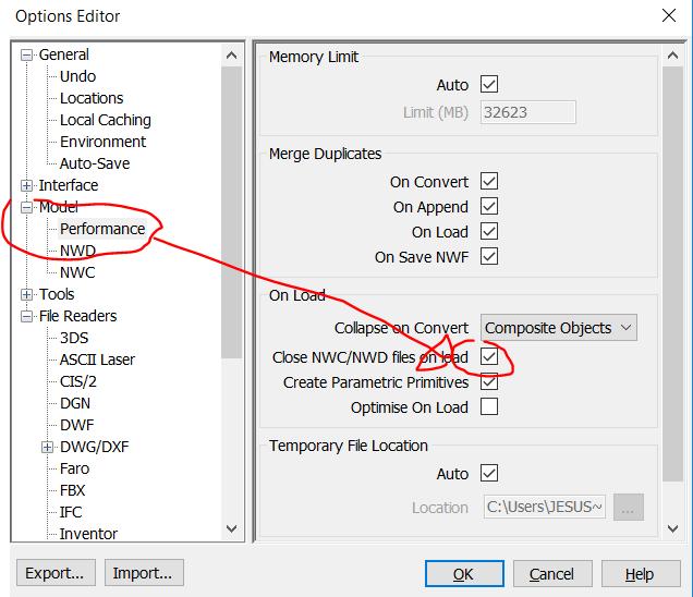 RE: ¿Cuales serían tus recomendaciones para generar un archivo NWC de coordinación?