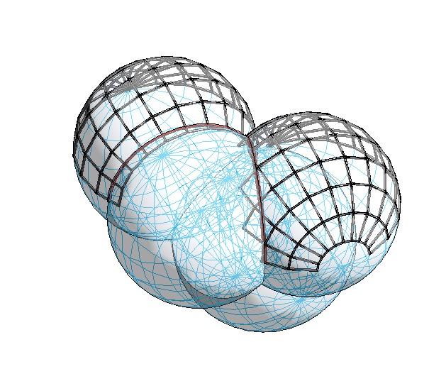 RE: ¿Cómo crear un perfil que recorra la intersección de dos esferas en Revit?